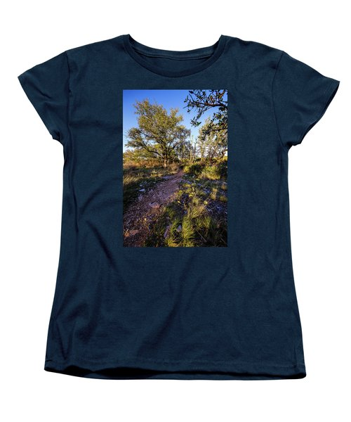 Colorado Bend State Park Gorman Falls Trail #2 Women's T-Shirt (Standard Cut) by Micah Goff