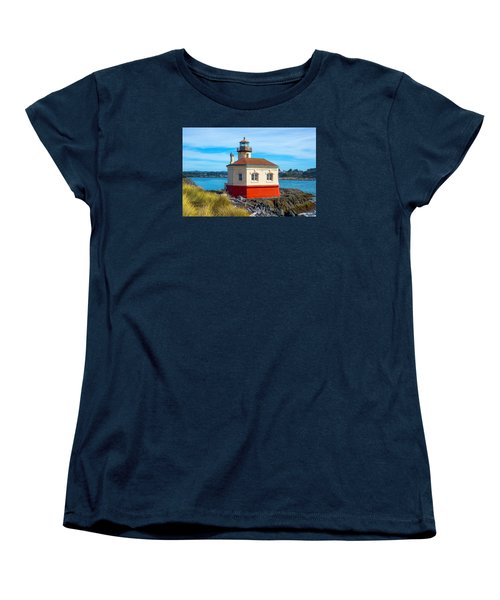 Women's T-Shirt (Standard Cut) featuring the tapestry - textile Coquille Lighthouse by Dennis Bucklin