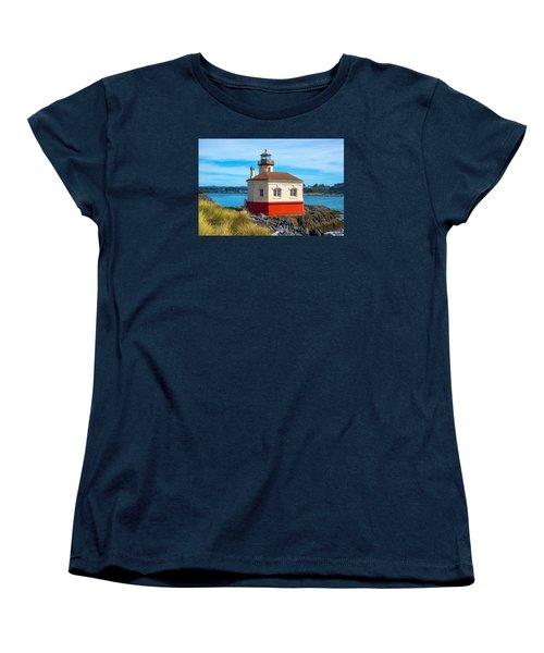 Coquille Lighthouse Women's T-Shirt (Standard Cut) by Dennis Bucklin