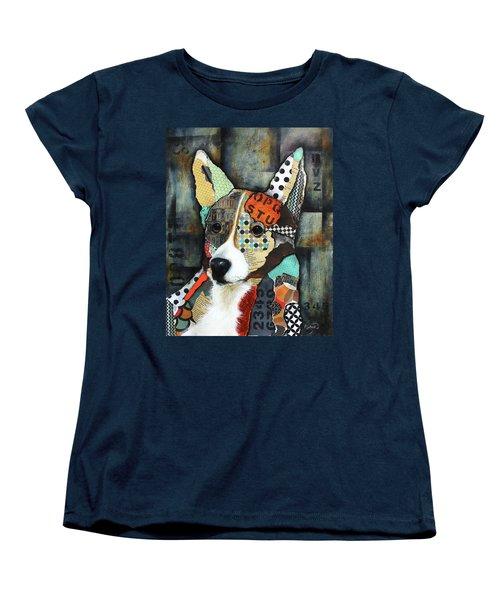 Corgi  Women's T-Shirt (Standard Cut) by Patricia Lintner