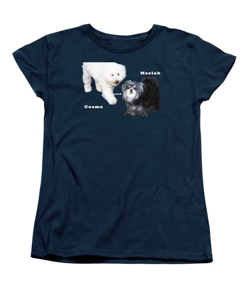 Cosmo And Meelah 1 Women's T-Shirt (Standard Cut) by Terry Wallace