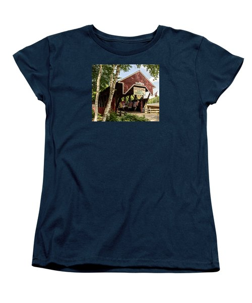 Covered Bridge Gift Shoppe Women's T-Shirt (Standard Cut) by Sherman Perry