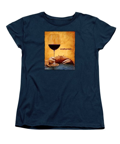 Women's T-Shirt (Standard Cut) featuring the painting Crabernet... by Will Bullas