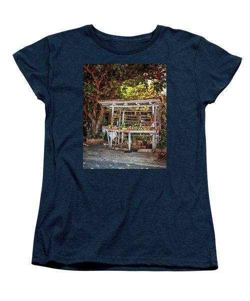Women's T-Shirt (Standard Cut) featuring the photograph Cuban Fruit Stand by Joan Carroll