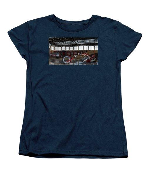 Women's T-Shirt (Standard Cut) featuring the photograph Custom Chopper  by Louis Ferreira