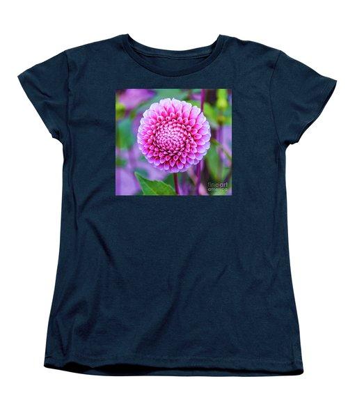 Women's T-Shirt (Standard Cut) featuring the photograph Dahlia by Zaira Dzhaubaeva