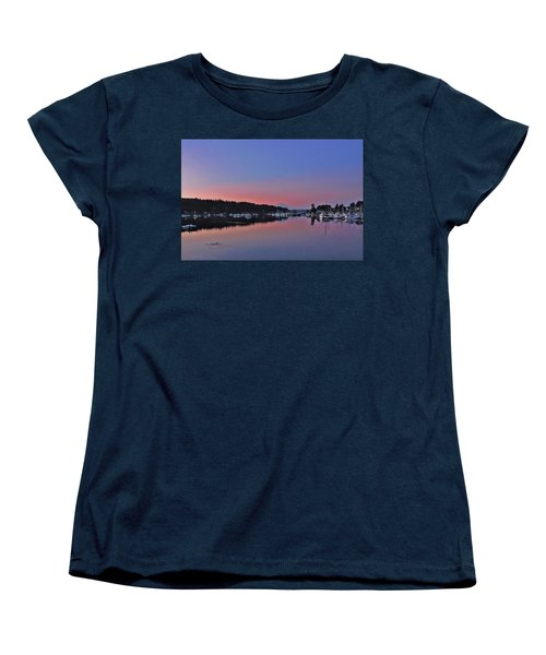 Women's T-Shirt (Standard Cut) featuring the photograph Dawn At Gig Harbor by Jack Moskovita