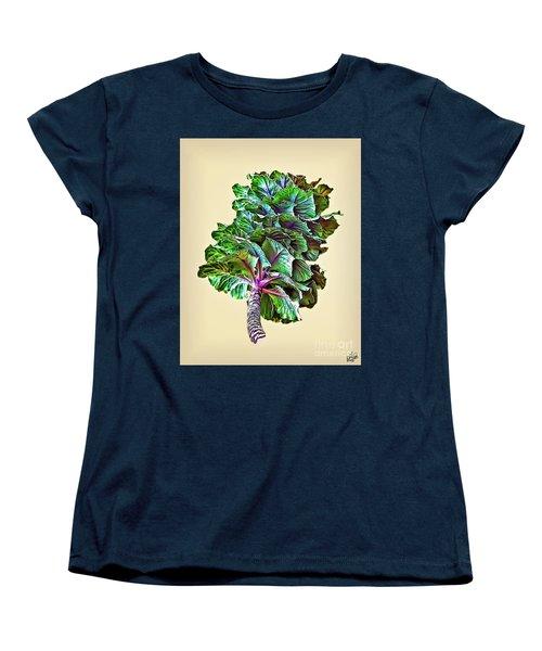 Women's T-Shirt (Standard Cut) featuring the photograph Decorative Cabbage by Walt Foegelle