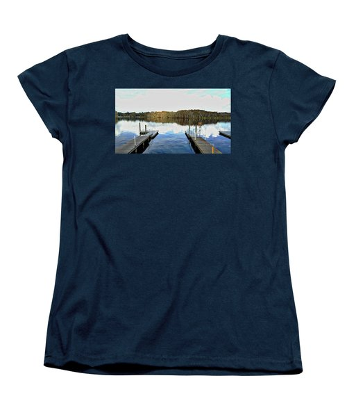Women's T-Shirt (Standard Cut) featuring the photograph Dock Of The Bay by Michael Albright
