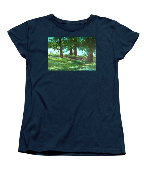 Dreaming On Fellows Lake Women's T-Shirt (Standard Cut) by Jan Bennicoff