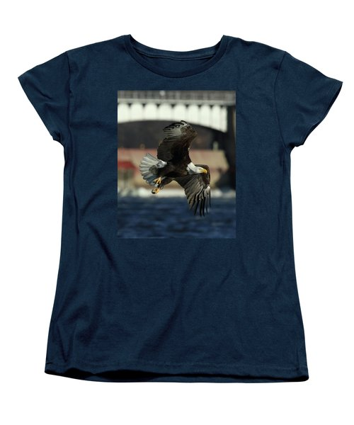 Women's T-Shirt (Standard Cut) featuring the photograph Eagle Flight by Coby Cooper