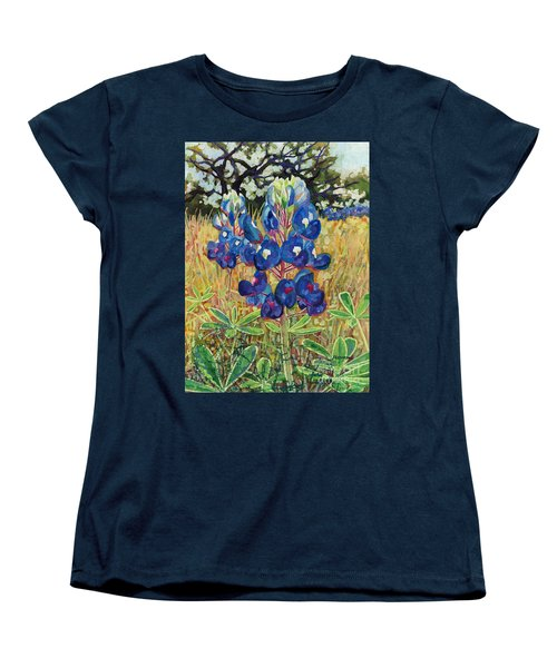 Women's T-Shirt (Standard Cut) featuring the painting Early Bloomers by Hailey E Herrera