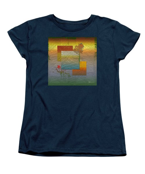 Early Morning In Boreal Forest Women's T-Shirt (Standard Cut) by Serge Averbukh