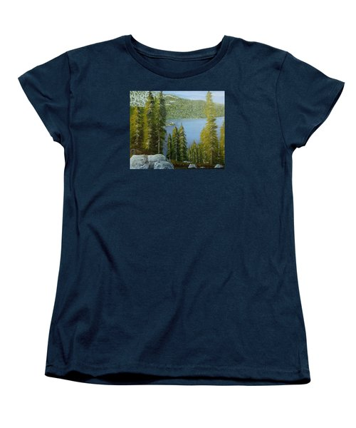 Emerald Bay - Lake Tahoe Women's T-Shirt (Standard Cut) by Mike Caitham