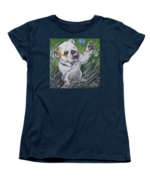 English Bulldog Women's T-Shirt (Standard Cut) by Lee Ann Shepard