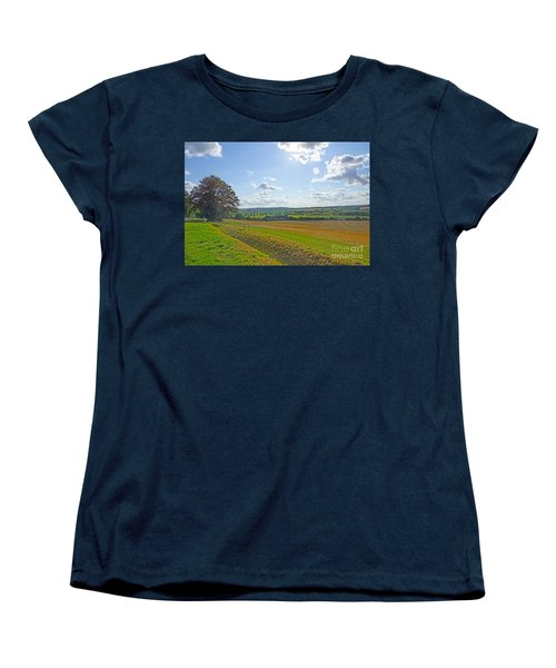 English Countryside Women's T-Shirt (Standard Cut) by Andrew Middleton