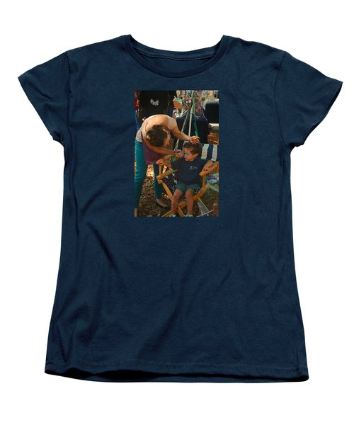 Face Painting Women's T-Shirt (Standard Cut) by Ronald Olivier