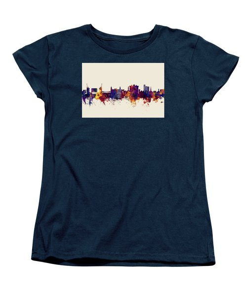 Fayetteville Arkansas Skyline Women's T-Shirt (Standard Cut) by Michael Tompsett