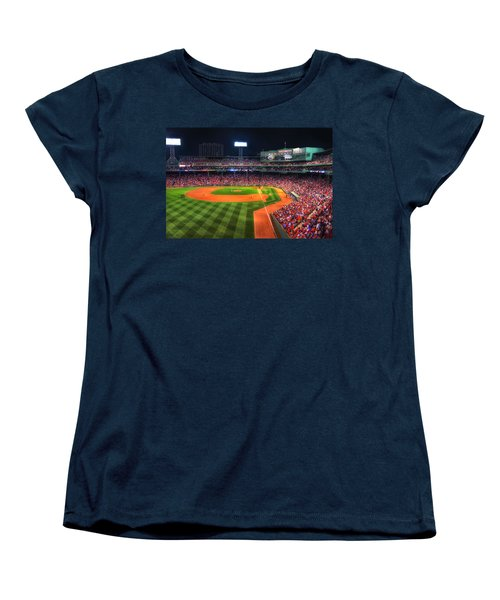 Fenway Park At Night - Boston Women's T-Shirt (Standard Cut) by Joann Vitali