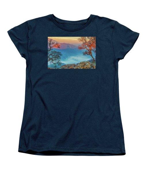 Fog In The Valley Women's T-Shirt (Standard Cut) by Marc Crumpler
