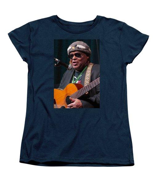 Women's T-Shirt (Standard Cut) featuring the digital art Folk Alliance 2014 by Jim Mathis