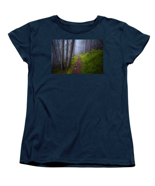 Women's T-Shirt (Standard Cut) featuring the photograph Forest Mysteries by Tara Turner