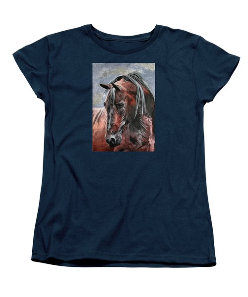Women's T-Shirt (Standard Cut) featuring the painting Forever by Melita Safran