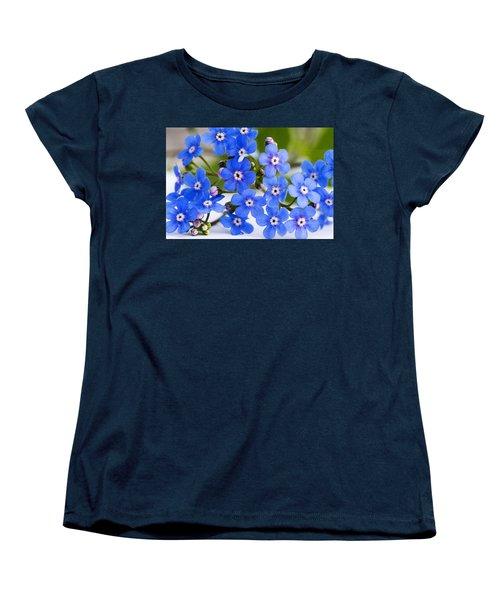 Forget-me-not Women's T-Shirt (Standard Cut) by Chevy Fleet