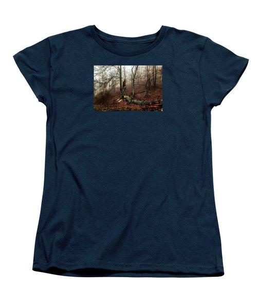 Fractured In Fog Women's T-Shirt (Standard Cut) by Deborah Scannell