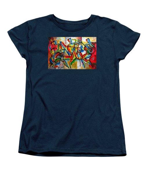 Free Jazz Women's T-Shirt (Standard Cut) by Leon Zernitsky