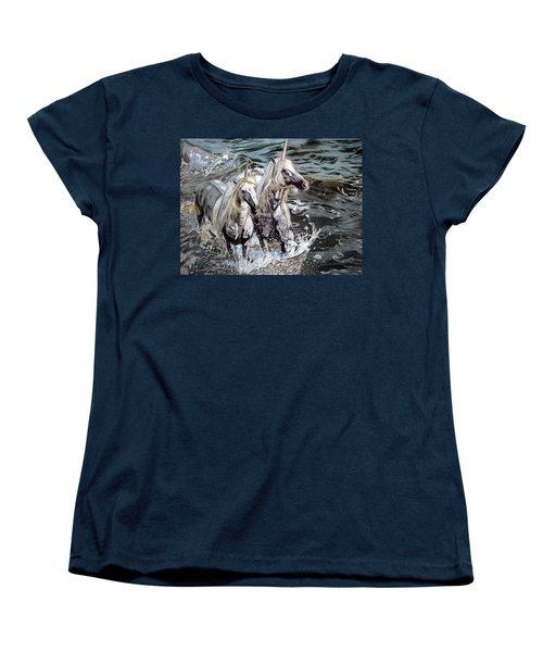 Freedom And Friendship Women's T-Shirt (Standard Cut) by Melita Safran