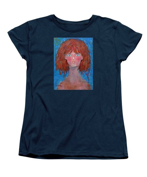 Women's T-Shirt (Standard Cut) featuring the painting Freedom by Becky Kim