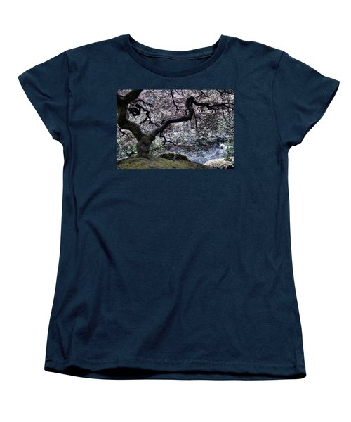Garden View In Blue Women's T-Shirt (Standard Cut)