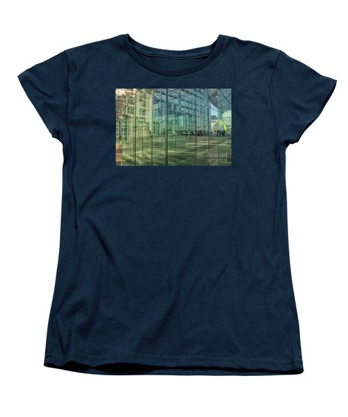 Women's T-Shirt (Standard Cut) featuring the photograph Glass Panels At Le Grande Arche by Patricia Hofmeester
