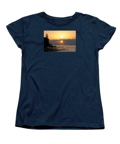 Women's T-Shirt (Standard Cut) featuring the photograph Golden Glow by Sandra Updyke