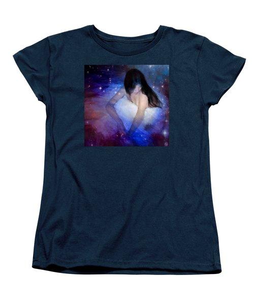 Women's T-Shirt (Standard Cut) featuring the digital art Good Night by Gun Legler