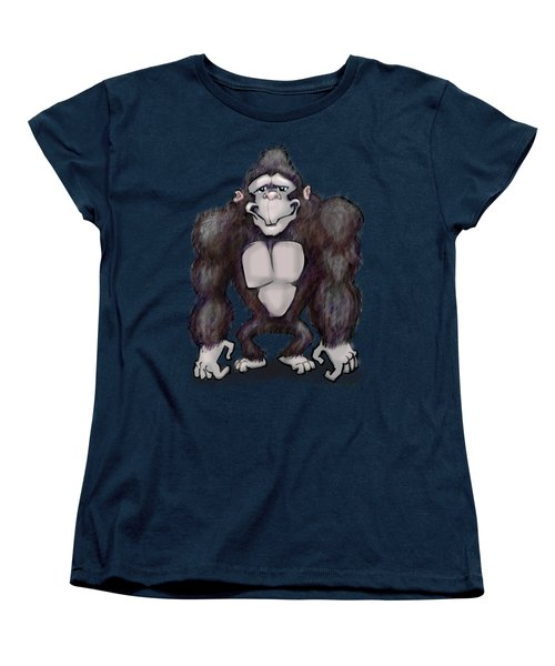Gorilla Women's T-Shirt (Standard Cut) by Kevin Middleton