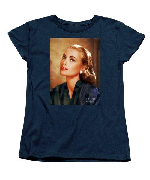 Grace Kelly, Actress And Princess Women's T-Shirt (Standard Cut) by Mary Bassett
