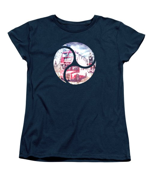 Graphic Art London Westminster Bridge Streetscene Women's T-Shirt (Standard Cut) by Melanie Viola