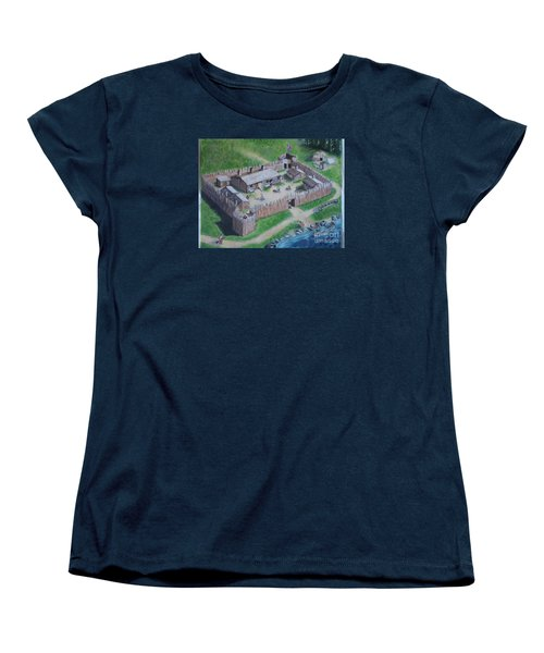 Great Lakes North Trading Post Women's T-Shirt (Standard Cut) by Francine Heykoop