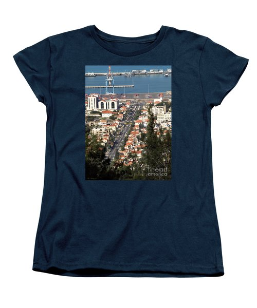 Women's T-Shirt (Standard Cut) featuring the photograph Haifa - The German Colony by Arik Baltinester