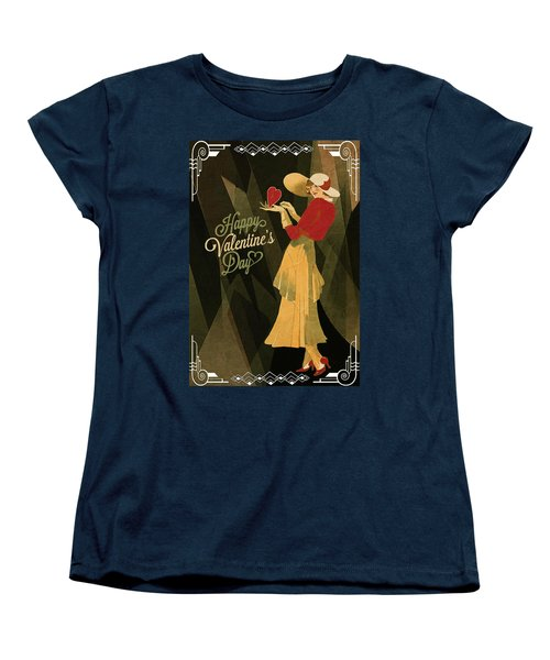 Women's T-Shirt (Standard Cut) featuring the digital art Happy Valentines Day by Jeff Burgess