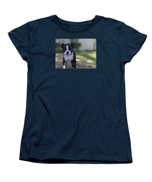 Women's T-Shirt (Standard Cut) featuring the photograph Harley As A Puppy by Lora Lee Chapman