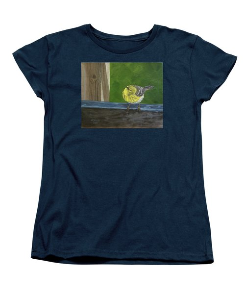 Women's T-Shirt (Standard Cut) featuring the painting Hello by Wendy Shoults
