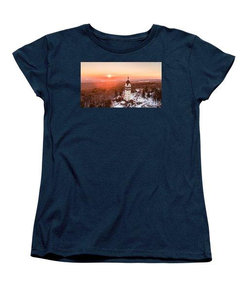 Heublein Tower In Simsbury, Connecticut Women's T-Shirt (Standard Cut) by Petr Hejl