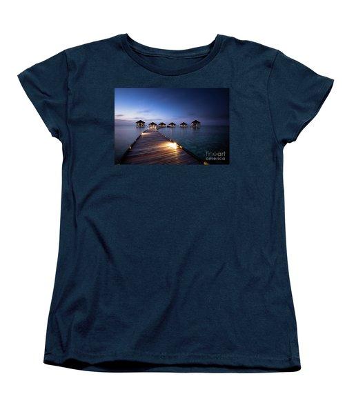 Women's T-Shirt (Standard Cut) featuring the photograph Honeymooners Paradise by Hannes Cmarits