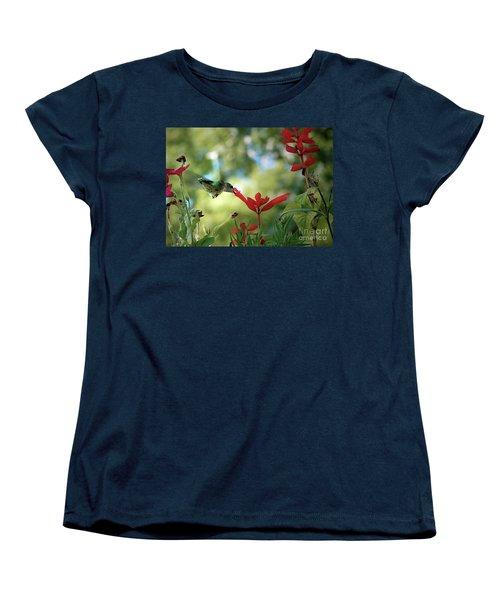 Hummingbird Delight Women's T-Shirt (Standard Cut) by Sue Stefanowicz