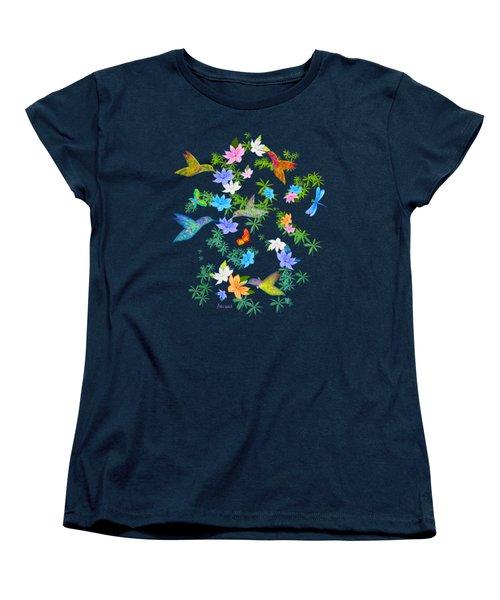 Hummingbird Spring Women's T-Shirt (Standard Cut) by Teresa Ascone