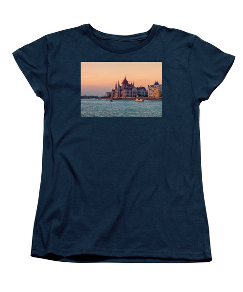 Hungarian Parliament Building In Budapest, Hungary Women's T-Shirt (Standard Cut) by Elenarts - Elena Duvernay photo