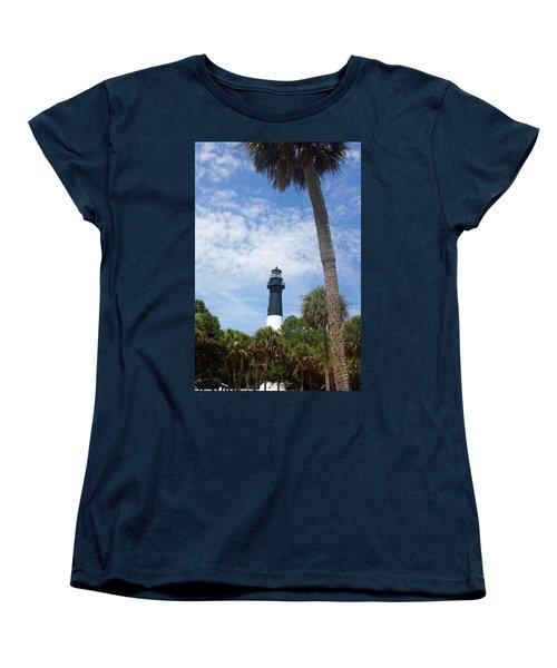 Hunting Island Lighthouse Women's T-Shirt (Standard Cut) by Ellen Tully